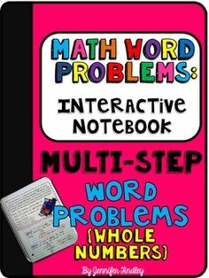 Multi Step Word Problem Interactive Notebook Freebie!