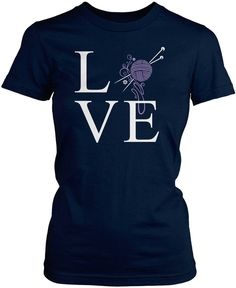 Love knitting? If you're a knitter, then this is the perfect t-shirt for you! Available here - http://diversethreads.com/products/love-knitting?variant=3905379461