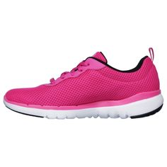 Skechers Flex Appeal – First Insight Pink Skechers Flex Appeal – First Insight Pink shoe for women as a sporty training sneaker for athletes with lacing, decorative stitching and air co …