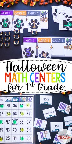 Calling all 1st grade teachers! These Halloween math centers are perfect for a little SpOoKy practice this October! Students will practice composing 10 with 2 or more addends, place value, comparing numbers, base 10/expanded/standard/word form of numbers, word problems, and adding multiples of 10 to another number.