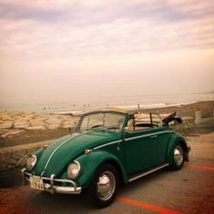 Junko Suzuki's 1966 Java Green 1300 VW Beetle Cabriolet. Junko is from Shizuoka, Japan. Next to her vert, she also owns a 1964 T2 camper.