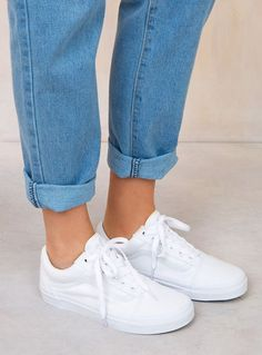 Vans White Old Skool