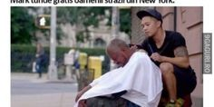 Inspirational story of Mark Bustos, a professional hair stylist who offers free haircuts to the homeless in New York. Charlie Chaplin, Free Haircut, Word Of Advice, Day Off, Goods And Services, Social Issues, News Blog, Hairdresser, About Me Blog
