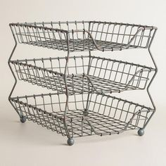 One of my favorite discoveries at WorldMarket.com: Zinc Austin 3-Tier Paper Tray  $49.99