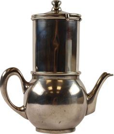 Small coffee pot with filter attachment and lid, made of silver, of one of the Flug- u. Zeppelinhafen-Gaststätten (air and Zeppelin port restaurants). Size (pot): ca. 15 x 9 x 10cm; Diameter (filter): 7cm, height: 9cm  Dealer Phila-Live - Christ-Stamps  Online Auction 0 bid(s)  Startprice: 75.00 EUR Auction ends at 07.06.2013!