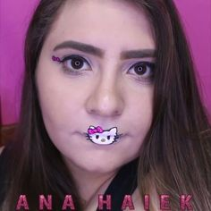 acc4dffd294d Maquiagem inspirada na Hello Kitty 🌎 Hello Kitty inspired Make-up look .