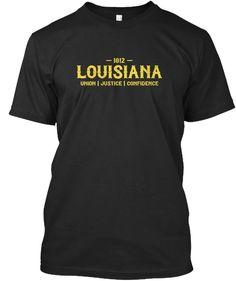 ca0b00d563cd Louisiana 1812 Tee Vintage Black T-Shirt Front Custom Clothes