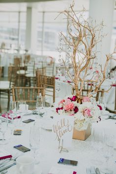 Branches + Crystals are a wonderful pairing for centerpieces at wedding receptions. See our branches here: http://www.lightsforalloccasions.com/c-401-branches-trees.aspx and our crystals here: http://www.lightsforalloccasions.com/c-370-crystals.aspx