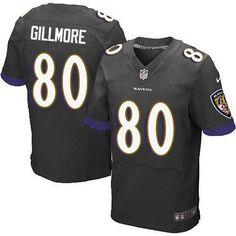 Baltimore Ravens #80 Crockett Gillmore Black Alternate NFL Nike Elite Men's Jersey