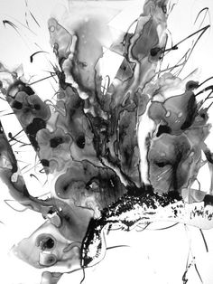 11x14in Unique Contemporary Fine Art Abstract Expressionist Surreal Intuitive Drawing Modern Minimal Zen Poetic Gestural Ink Original OOAK