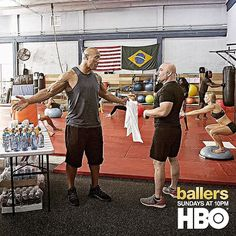 """You @jayglazer ain't ready to go """"One on one with the Great One"""". You lookin' at 6'5 260lbs of tougher than a $2 steak jack. You get me in that cage and I'm gonna knock your lung loose.. #BALLERS TONIGHT at 10pm on @HBO. #BrotherlyLove #DontSleepOnTheGlaze #DudesABeast by therock"""