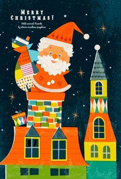Cut Paper Illustration, Christmas Illustration, Illustration Sketches, Illustrations And Posters, Christmas Poster, Christmas Art, Christmas Greetings, Christmas Stuff, Kids Art Class