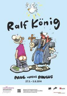 """Die neue Ausstellung """"Ralf König"""" eröffnet am 26.3.2014 im caricatura museum frankfurt."""