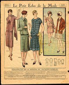 Ladies Fashion Magazine Cover Le Petit Echo by VintageDecorPrints