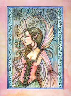 Fairy Art of Molly Harrison: Isabella Fantasy Kunst, Fantasy Art, Fantasy Fairies, Dragons, Fairy Coloring, Adult Coloring, Fairy Pictures, Beautiful Fairies, Beautiful Artwork