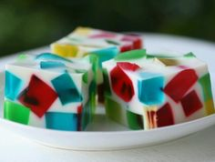 Broken glass dessert jello sweetened condensed milk easy yummy pretty stuff!