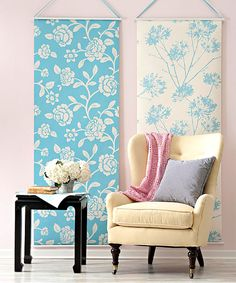 Cool idea for wall where reading chair is 29 Off-The-Wall Uses for Wallpaper via Brit + Co.