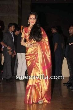 Bollywood actresses looks beautiful in Kanchipuram silk saree.Kanchipuram silk sarees are also know...