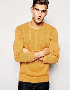 ASOS Cable Jumper in Cotton £18.00