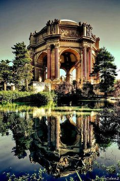 Palace of Fine Arts - U. National Register of Historic Places San Francisco Designated Landmark in the Marina District of San Francisco. Palace of Fine Arts, San Francisco Places Around The World, Oh The Places You'll Go, Places To Travel, Places To Visit, Around The Worlds, Travel Things, Travel Stuff, Fun Things, Beautiful World