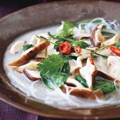 Thai Chicken-Coconut Soup - this was a hit with the whole family, though the kids skipped the mushrooms and spinach. Simple, fast, delicious!