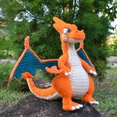 Pokemon: Mega Charizard Y – Free Amigurumi Pattern here: www.miahandcrafte… Pokemon: Mega Charizard Y – Free Amigurumi Pattern here: www. Plushie Patterns, Crochet Toys Patterns, Stuffed Toys Patterns, Crochet Crafts, Crochet Projects, Free Crochet, Knitting Patterns, Beginner Crochet, Free Knitting