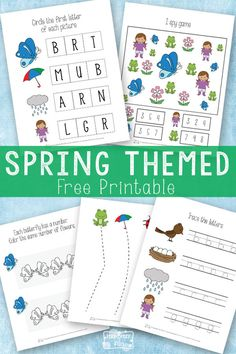 Free Pritnable Spring themed printable pack