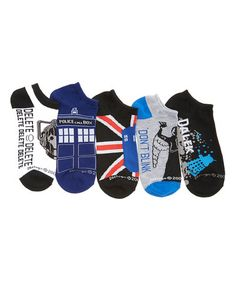 Loving this Doctor Who 'Don't Blink' Low-Cut Five-Pair Socks Set - Women on #zulily! #zulilyfinds