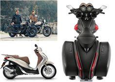 Saiba mais sobre a a pequena scooter Piaggio Medley 125, a renovada Piaggio Liberty, a nova Moto Guzzi V9 nas versões Bobber e Roamer, e a lindíssima Moto Guzzi