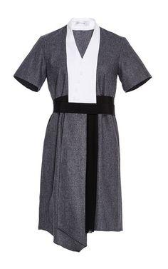 Asymmetrical Short Sleeve Dress by CARVEN for Preorder on Moda Operandi