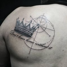 simply amazing crown tattoo