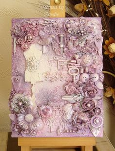 This is a beautiful mixed media piece. I need to make something like this.