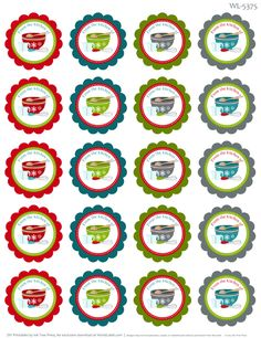 'from the kitchen of' labels for baking - free printables from Worldlabel.com