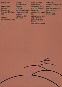 Tonhalle-Gesellschaft Zürich Musica Viva Poster — Josef Müller-Brockmann