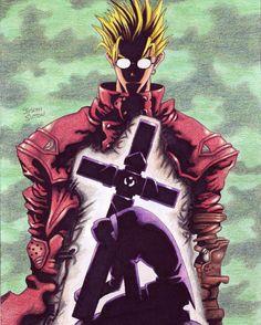 Trigun by on DeviantArt Old Anime, Manga Anime, Anime Art, Shinra Kusakabe, Vash, Cowboy Bebop, Japan Art, Manga Games, Art Journal Inspiration