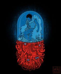 Tesuo Shima from Katsuhiro Otomo's sci-fi cyberpunk manga and anime Akira. Manga Anime, Manga Art, Anime Art, Japon Illustration, Fantasy Illustration, Akira Anime, Aesthetic Anime, Aesthetic Art, Katsuhiro Otomo