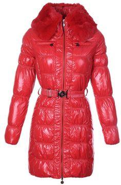 184da9abc5f8 Cheap Moncler Jacket Moncler Women Long Down Coat Zip Leading Red Outerwear  Moncler Jacket Mens