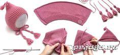Детская шапочка – капор спицами, мастер класс для начинающих мастериц