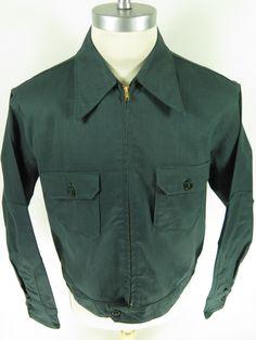 Vintage 40s Lion Bilt work chore jacket HBT hearing bone weave. Find more men's and women's authentic vintage clothing at The Clothing Vault.
