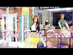 How to Make a Doll Tulle Dress - Doll Crafts - YouTube
