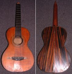 A guitar made in 1858 by Louis Panormo