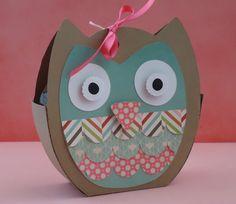 Silhouette 3D Owl Tote Box Valentine's