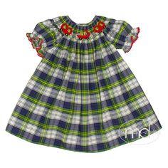 9171f82df31 Silly Goose School Day Girls Smocked Bishop Dress. Children s BoutiqueSchool  ...
