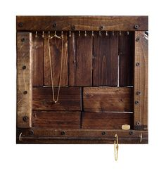 Jewelry Organizer // Necklace, Bracelet & Ring Display handmade from reclaimed wood by DesignSea.etsy.com