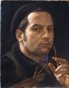 Pietro Annigoni - Self-portrait. Pietro Ani Gurnee (Pietro Annigoni) (born 7 June 1910 Milan– died 28 October 1988 -aged 78- Florence, Italy) was an Italian portrait and fresco , oil painting, portrait painting, drawing, sculpture , who became world famous after painting Queen Elizabeth II in 1956. He is buried in the Porte Sante (Holy Doors) cemetery at the Basilica di San Miniato al Monte, overlooking his beloved Florence. Movement	Realism (visual arts)