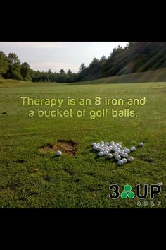 Therapy is an 8 iron and a bucket of golf balls.⛳️