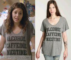 Shameless: Season 3 Episode 4 Fiona's Alcohol Nicotine Caffeine T SHirt