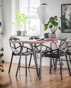 LOVE IS IN THE AIR 👌 How about this beautiful apartment 🖤🖤🖤 . Denna grymma etta är nu till salu 👊 By Styling By Tavlor By Mattor, plädar By Lampa Side Chairs, Decorating Your Home, Dining Table, Dining Room, Interior Design, Inspiration, Furniture, Printables, Home Decor