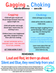 BLW - great to know the difference between gagging and choking. Baby Led Weaning First Foods, Baby First Foods, Baby Weaning, Baby Foods, Baby Trivia, Baby Life Hacks, Baby Information, Solids For Baby, Baby Care Tips