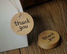 Etichette etichetta carta Thank you per regalo bomboniera matrimonio, Thank you Kraft Tag - Craft Tag (set 50 pcs) di FlowersFavours su Etsy